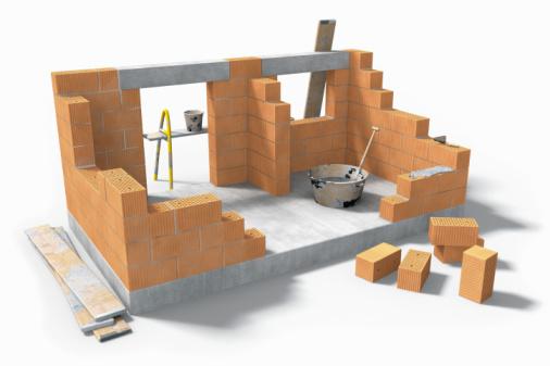 Строительство кирпичного дома.  Плюсы и минусы.