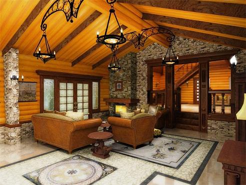 Дизайн отделки дома внутри фото